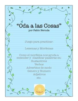 Pablo Neruda:  Lexemas y Morfemas