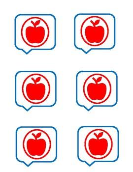 Lexia Core 5 Red Apple Icon - Teacher Intervention Help Badge