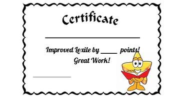 Lexie Improvement Certificate