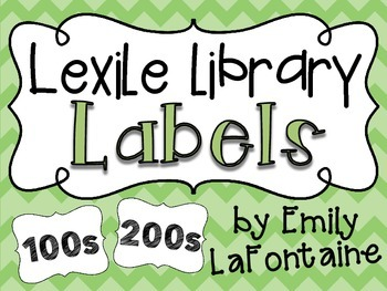 Classroom Library Labels with Lexile Levels - for your boo