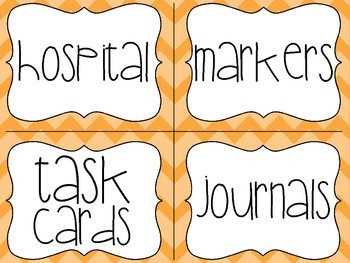 Orange Classroom Library Labels with Lexile Levels - for your book baskets