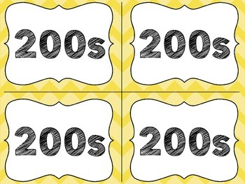 Yellow Classroom Library Labels with Lexile Levels - for your book baskets