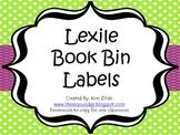 Lexile Book Bin Labels Green Polka Dot