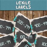 Lexile - Chalkboard Library Labels