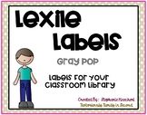 Gray Skies Lexile Labels for Classroom Library Book Bins