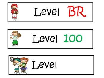 Lexile Level Book Basket Labels