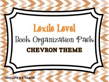 Lexile Level Book Organization Pack {Chevron Theme}