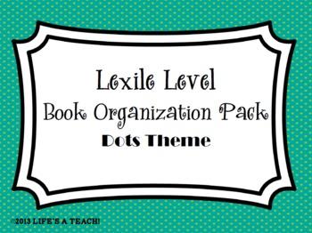 Lexile Level Book Organization Pack {Dots Theme}