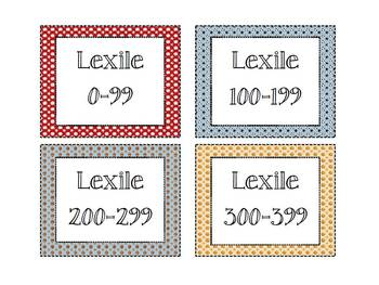 Lexile Level Labels with a Sporty Theme