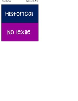 Lexile Leveled Book Spine Stickers and Bin Labels