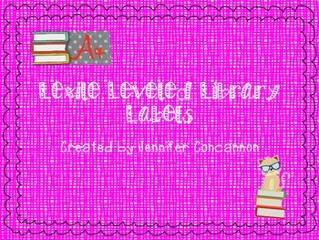 Lexile Leveled Library Labels