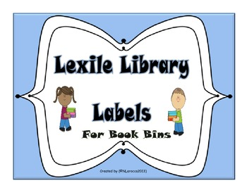 Library Labels for Book Bins