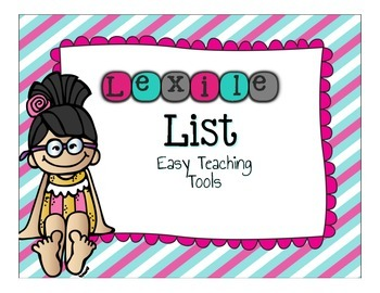 Lexile List FREEBIE