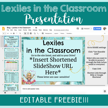 Lexiles Professional Development Resource