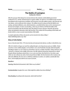 Lexington Primary Sources