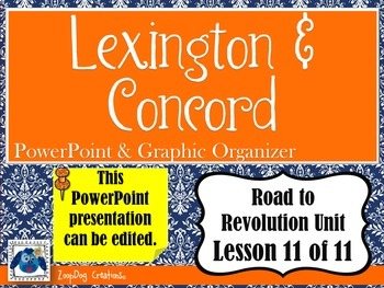 Lexington and Concord PowerPoint and Graphic Organizer