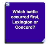 Lexington and Concord SmartNotebook Questions