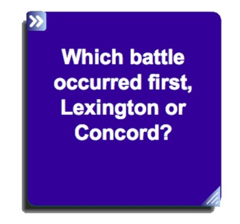 Lexington and Concord SmartNotebook Questions