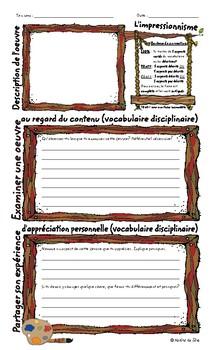 Lexique du vocabulaire et grilles d'appréciation d'une oeuvre