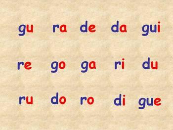 Leyendo Silabas de R, G, D