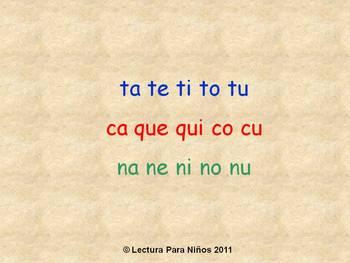 Leyendo Silabas de T, C, N