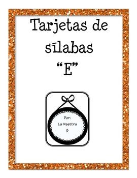 Leyendo Sílabas (syllable cards)