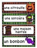 L'halloween - mur de mots
