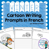 L'hiver:  Winter Themed Cartoon Writing Prompts in French