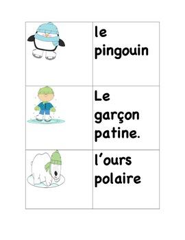 L'hiver: activités de lecture et écriture / Winter: writing and reading