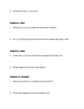 Li Lun Lad of Courage By Carolyn Treffinger Comprehension Questions with Answers