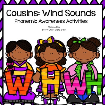 LIPS Phonemic Awareness Supplemental Activities BUNDLE:  The Cousins