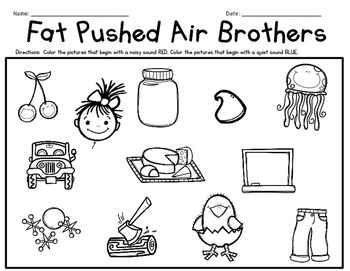 Phonemic Awareness  Activities: Fat Pushed Air - Ch & J