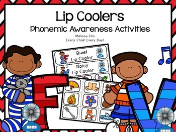 Phonemic Awareness Activities: Lip Coolers F and V