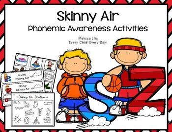 Phonemic Awareness Activities: Skinny Air S and Z