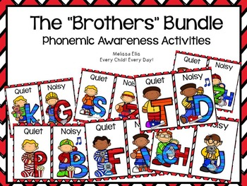 Lips Phonemic Awareness Supplemental Activities BUNDLE:  The Brothers