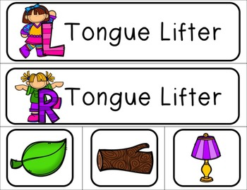 LIPS Phonemic Awareness  Activities: Tongue Lifters - L & R