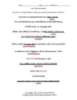 Liar Liar Complete Literature and Grammar Unit