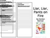 Liar, Liar, Pants on Fire (Level O) Reader Response Trifol