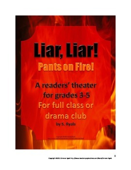 Liar Liar Pants on Fire Play Elementary Script Drama Club Readers Theater