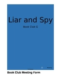 Liar and Spy by Rebecca Stead Book Club Activities Part 1