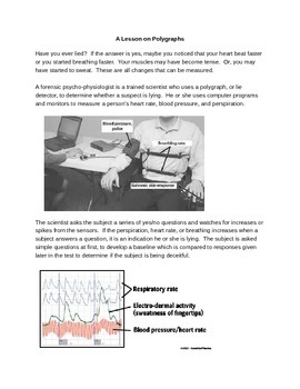 Liars Beware!  Your Body Doesn't Lie.  A lab on lying and polygraphs.