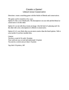 Liberal vs. Conservative Game