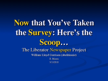 Liberator Newspaper Production Project