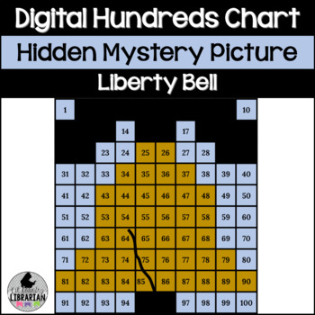 Liberty Bell Hundreds Chart Hidden Picture Activity for American Symbols Math