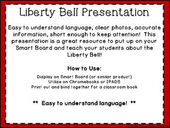 Liberty Bell Presentation