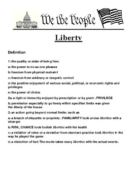 Liberty Definition and Writing Prompt