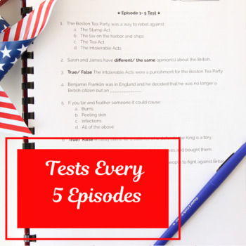 Liberty Kids Quizzes, Tests, AND Reflection Questions ...