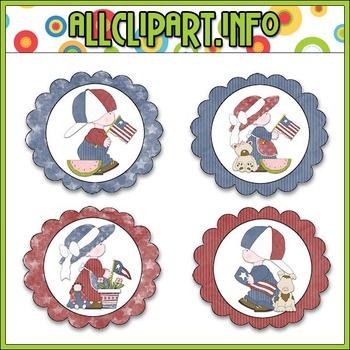 Liberty Kids (Clip Art) Cupcake Picks