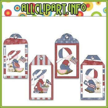 Liberty Kids (Clip Art) Hang Tags