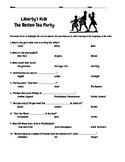 Liberty's Kids Episode 1 Boston Tea Party Questions w/Writ